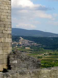 View of Bonnieux from Lacoste