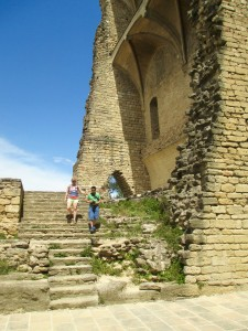 Remains of the castle the popes used for their summer residency in Chateauneuf-du-Pape