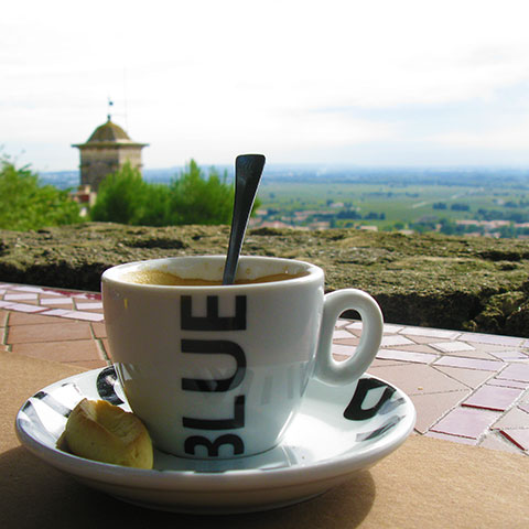coffee with valley view