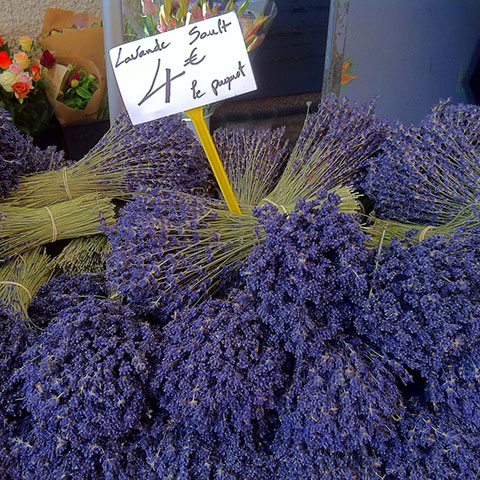 Lavender bunches at market