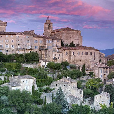 Gordes at sunset