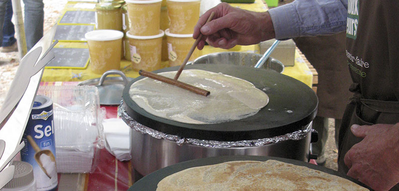 Crepe making